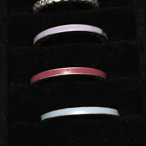 Pandora light blue  Cz enamel ring size 9